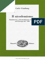 Ginzburg_1970_Il Nicodemismo. Simulazione e Dissimulazione Religiona Nell'Europa Del '500