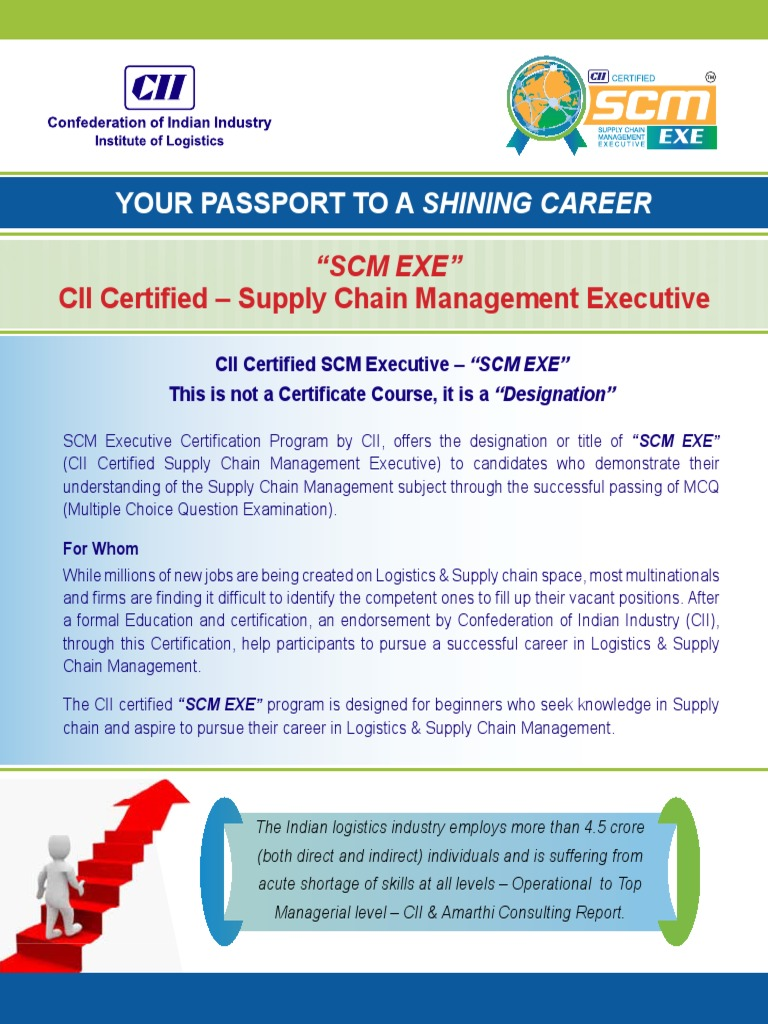SCM EXE Broucher   Supply Chain Management   Business