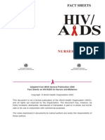 Fact Sheets on HIV-AIDS for Nurses & Midwives