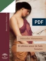 Mercedes Matamoros - El Último Amor de Safo - Sonetos
