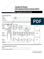 Be Inspired Nepal Quiz-Form2072 PDF