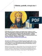 'Sveti' Kralj Milutin, Pedofil, Svirepi Otac i Sladostrasnik