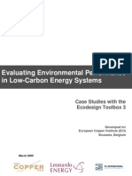 Environmental Performance in Low Carbon Electricity Systems