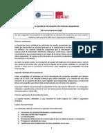 Ayudas a La Creacion de Musicas Populares 2 Convocatoria 2013