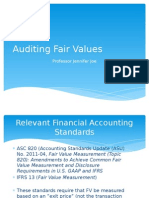 Auditing Fair Values
