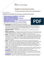 An Overview of the English Morphological System