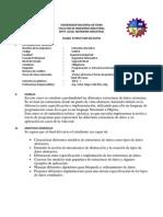 SILABO Estructuras de Datos