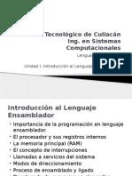 Unidad I Introducción Al Lenguaje Ensamblador