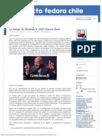 La Trampa de Windows 8 (UEFI Secure Boot) @ Proyecto Fedora Chile