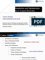 Modeling, Simulation and Optimization