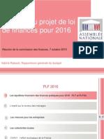 Présentation PLF 2016
