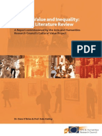 Cultural Value and Inequality. A Critical Literature Review
