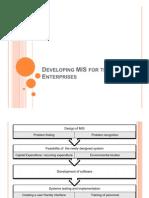 Developing Mis for the Public Enterprises