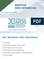 Revisões Narrativas versus Revisões Sistemáticas
