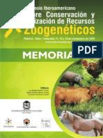 X SIMPOSIO IBEROAMERICANO SOBRE CONSERVACIÓN Y UTILIZACIÓN DE RECURSOS ZOOGENÉTICOS Me Mori as Palmira 2009