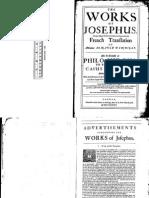 The Works of Josephus - Philo Judaeus to Caligula 1676