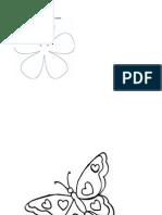 Moldes Mariposa y Flor.