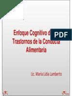Enfoque Cognitivo de Los Trastornos de La Conducta Alimentaria