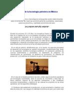 Retos de la tecnología petrolera en México