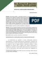 BANDEIRA. Pressupostos Do Capitalismo Brasileiro. 2014