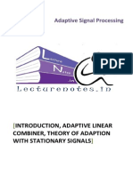 Introduction, Adaptive Linear Combiner, Theory Of Adaption With Stationary Signals.pdf