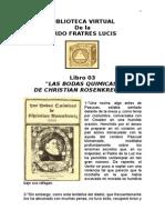 Libro Fratres Lucis 03 Bodas Quimicas