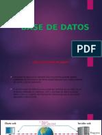 Base de Datos Presentacion en Power Point