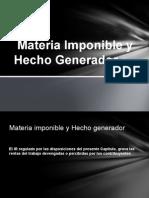 Materia Imponible y Hecho Generador DIAPOSITIVAS