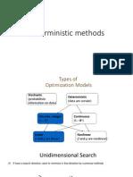 Deterministic Methods