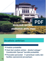 OPERATION RESEACH Analisis Antrian - Queuing Analisys