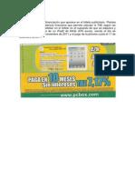 Cálculo TAE Financiacion iPad