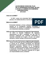 Articulacion Mision Vision Del Plan Estrategico de La Universidad