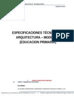 Especificaciones Tecnicas de Arquitectura - Modulo II (Educacion Primaria)