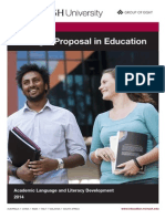 Booklet Writing a Proposal in Education