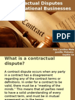Contractual Disputes in International Businesses