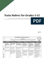 6 1 writing traits rubric