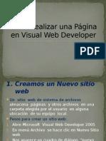 Como Realizar Una Página en Visual Web Developer