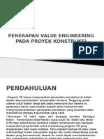 Penerapan VE Pada Proyek Konstruksi