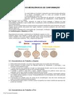 Processos Metalúrgicos de Conformação - Fernando Penteado - Bom