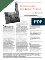 Environmental Sanitation Policies