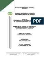MANTENIMIENTO DE LOS EQUIPOS DE CÓMPUTO DEL AYUNTAMIENTO DEL MUNICIPIO DE TAPACHULA.doc