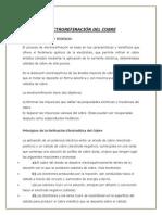 Proceso de Electrorefinacion