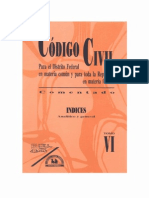 codigo civil mexico Tomo Vi - Indice Analitico - PDF