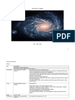 Preschool Lesson Plan under Astronomy Theme
