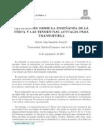REFLEXIONES SOBRE LA ENSE~NANZA DE LA FISICA Y LAS TENDENCIAS ACTUALES PARA TRANSMITIRLA