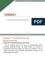 Unidad 1 Mantenimiento de sistemas informaticos