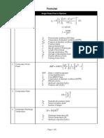 Formulae Sheet 2014