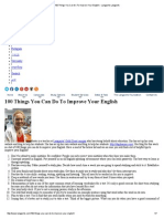 100 Things You Can Do to Improve Your English - Langports Langports