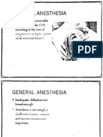 gen anesthesia medicine physiologgy