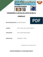 235228189 Sesion Aprendizaje Secciones Conicas Curso 2011